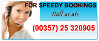 Call us now for a speedy car rental booking