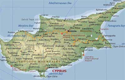Cyprus map. View larger photo