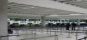 Paphos airport hall